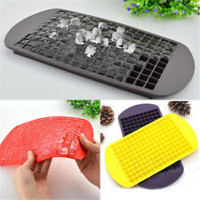 Safety 160 Ice Cubes Frozen Cube Bar Pudding Silicone Tray Mould Mold Top 0043R