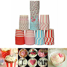 50Pcs Greaseproof Muffin Cupcake Cups Paper Baking Liners Kitchen Accessories