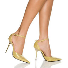 SLICK-101, 4'' Steel Stiletto Heel D-Orsay Pointed Toe Pump Shoes by The Highest