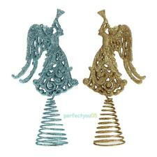 Christmas Xmas Tree Ornament Hollow Out Angel Spring Swing Home Table Decoration