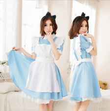 Hot Sexy Adult Women Alice In Wonderland Costume Cosplay Maid Fancy Dress Lolita