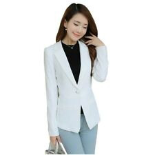Women Pockets Solid Color Plus Size Long Sleeve Slim Small Blazer