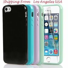 For iPhone 5 5s Soft Silicone Rubber Gel TPU Jelly Lustrous Case Cover Skin