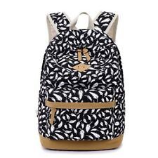 New Fashion Printing Backpack Canvas Material School Bag for Teenager Girl