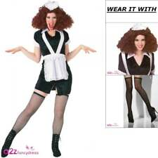 Womens Magenta Rocky Horror Picture Show Adult Fancy Dress Costume Wig Pull Ups