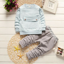 Fall Kids Boys Baby Set Long Sleeve Tops+Pants Toddler Fashion Outfits Set New