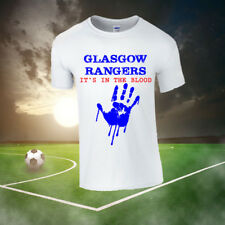 """GLASGOW RANGERS """"IT'S IN THE BLOOD"""" T-SHIRT, FOOTBALL, UK, SCOTLAND, GIFT, NEW"""