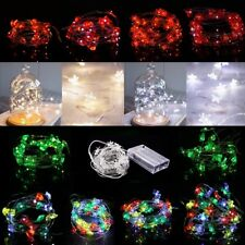 Waterproof 20/30/50 LED String Copper Wire Fairy Lights Battery Powered DIY