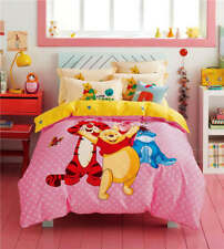 NEW Winnie the Pooh Friend Comforter Bedding Sets Children's Bedroom 100% Cotton