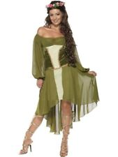 NEW Adult Sexy Medieval Fair Maiden Maid Ladies Fancy Dress Costume Party Outfit