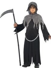 Kids Grim Death Reaper Boys Halloween Horror Party Fancy Dress Costume Outfit