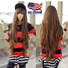 80cm Womens Long Curly Wavy Hair Full Wigs Cosplay Party Anime Custume Wig USA