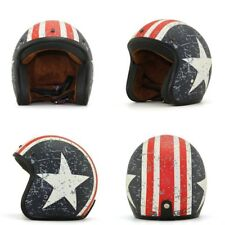 Motorcycle helmet 3/4 vintage open face retro cafe DOT scooter free shipping