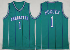 Muggsy Tyrone Bogues #1 Charlotte Hornets Jersey Basketball Men STITCHED