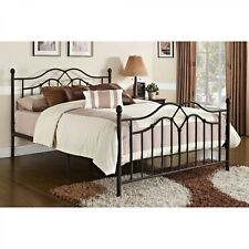 Bronze Metal Bed Full Queen Size Adult Frame Modern Style Bedroom Furniture New