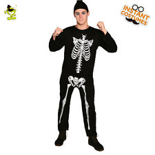New Scary Skeleton Horror Men Adult Costume Halloween jumpsuit Costumes