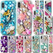 For iphone X Transparent Shine Bling Crystal 3D Diamonds Hard PC Case Cover