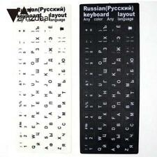 Keyboard Russian Waterproof Black And White Stickers Layout Laptop PC Letters