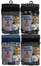 12or 6 Pack Boys Classic Cotton Jersey Boxer Shorts Ages 2 -13 Years Check