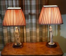 Matching Pair of Table Lamps with Porcelain Figures