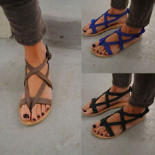 Women Ladies Flip Flops T-Strap Gladiator Thong Sandals Strappy Beach Shoes Size