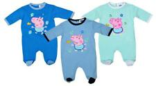 Boys Baby Peppa Pig GEORGE Pig All in One Romper Outfit Sleepsuit 1 to 9 Months