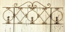 Wrought Iron Decorative Turnip Fence Garden Border, Trellis for Flowers & Vines
