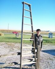 Vintage Wooden 9 Step Ladder Shelf  These Ladders Lean for Decorative Home Decor