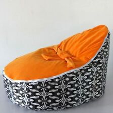 Soft Baby Bean Bag Children Sofa Chair Cover with Harness Strap without filling