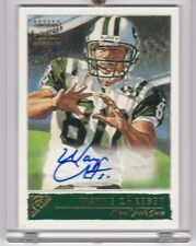 WAYNE CHREBET 2001 TOPPS GALLERY AUTOGRAPHS NEW YORK JETS