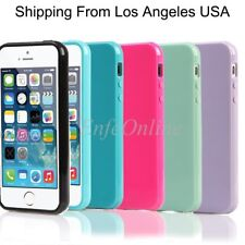 For Apple iPhone 5 5S SE Slim Soft Candy Silicone Gel Back Rubber TPU Case Cover