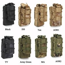 Tactical MOLLE Double Decker Single Rifle Pistol Mag Pouch Hunting Magazine Bag