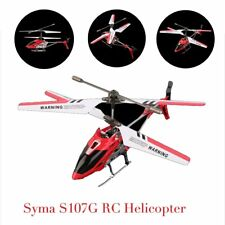 Syma 3 Channel S107G Mini Indoor Co-Axial R/C Helicopter Gyro Red RC LOT XP