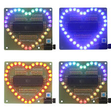 New DIY Kit Heart-shaped LED Red Blue Colorful Light Water ElectronicAH