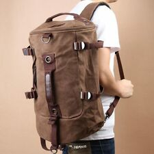 Mens Shoulder Travel Hiking Duffle Gym Sports Tote Bag Rucksack Canvas Messenger
