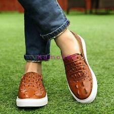 New Mens Stylish shoes alligator Pattern slip on loafer sneaker driving casual