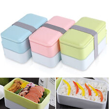 900ML 2 layer Japanese Lunch Box Picnic  Food Container + Spoon Chopstick S