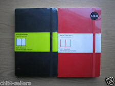 MOLESKINE HARD COVER PLAIN PAGES NOTEBOOK 13X21CM ASSORTED COLOURS NEW FREE P&P