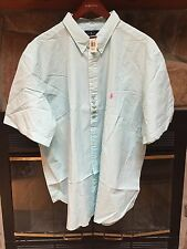 Polo Ralph Lauren Mens Short Sleeve Striped Button Down Pink Blue BIG TALL NWT