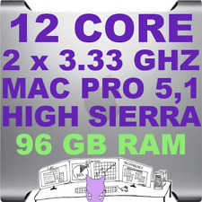 Mac Pro 5,1 12-Core (2 x 3.33 GHz) HIGH SIERRA 10.13 • A1289 • 96GB RAM • WiFi