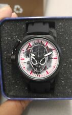 Marvel Comics  NEW Mens Crown Protector Spider-Man Black Rubber Watch 30M