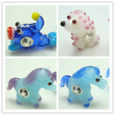 1-50p SILVER MURANO GLASS BEAD LAMPWORK Animal fit 925 European Charm Bracelet v