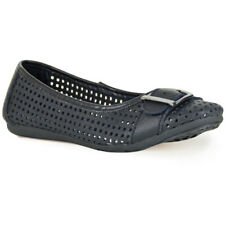 New NOVO Dolce BLACK Women's Leather Upper Lining & Synthetic FLATS Shoes