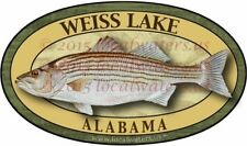 Weiss Lake Fishing Stickers (Pack of 2) Striped Bass decals Alabama 3 yrs