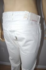 NEW GANT RUGGER STICK BOY SEED BULL ALMOND WHITE DENIM MEN`S JEANS Sz 33,34