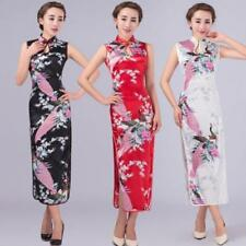 NEW STYLE Chinese women's SILK evening LONG Dress CHEONGSAM in Size: S-XXL