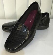 Aerosoles ARMY Brown Croco Patent Leather Slip On Loafers Moccasins Flats 6 7*