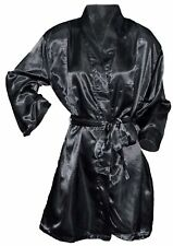 OCTAVE Ladies Luxury Summer Sexy Satin Kimono Robe Wrap Dressing Gown