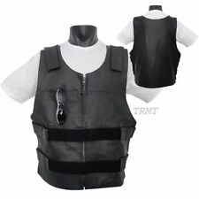 Bullet Proof style Biker Leather Motorcycle Vest (Replica for Bikers)