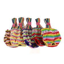 New Female Pet Dog Puppy Striped Sanitary Pants Diaper Panty Underwear Braces